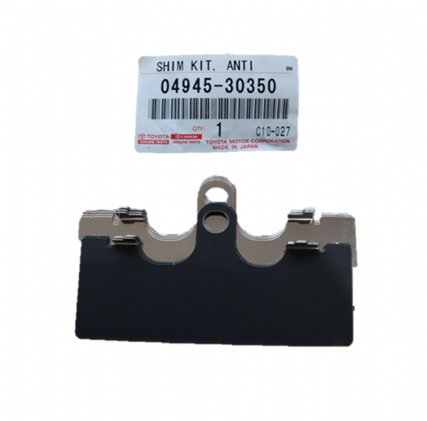 Genuine Lexus Hybrid Front Pad Shim Kit (IS250, IS350, GS) 04945-30350, 0494530350